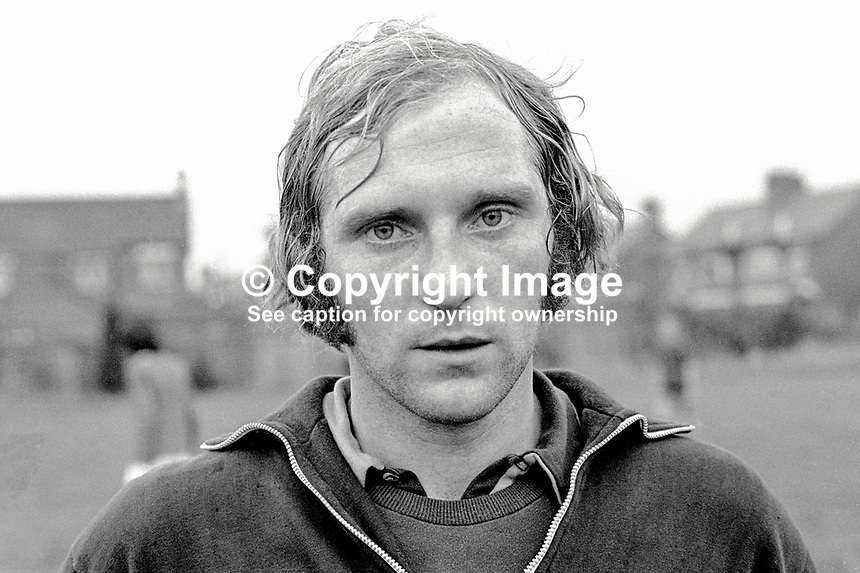 Roy Coyle, player, Glentoran FC, Belfast, N Ireland, UK, 197000000275.<br /> <br /> Copyright Image from Victor Patterson, 54 Dorchester Park, Belfast, UK, BT9 6RJ<br /> <br /> t1: +44 28 9066 1296<br /> t2: +44 28 9002 2446<br /> m: +44 7802 353836<br /> <br /> e1: victorpatterson@me.com<br /> e2: victorpatterson@gmail.com<br /> <br /> www.victorpatterson.com<br /> <br /> IMPORTANT: Please see my Terms and Conditions of Use at www.victorpatterson.com
