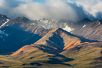 Colorful sediment layers in the Polychrome mountains, Denali National Park, Alaska.