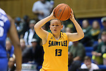 08 November 2015: Saint Leo's Izabell Skoogh (SWE). The Duke University Blue Devils hosted the Saint Leo University Lions at Cameron Indoor Stadium in Durham, North Carolina in a 2015-16 NCAA Women's Basketball Exhibition game. Duke won the game 116-33.