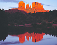 Sunset at Red Rock Crossing, Oak Creek, Arizona   Coconino National Forest
