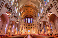 Riverside Church, New York City, New York, designed by Allen & Collens, interior
