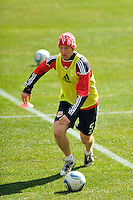 Tim Ream (5) of the New York Red Bulls during practice on Media Day at Red Bull Arena in Harrison, NJ, on March 15, 2011.