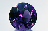 Amethyst, faceted