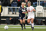 03 December 2010: Notre Dame's Kecia Morway (16) and Ohio State's Megan Fuller (20). The Notre Dame Fighting Irish defeated the Ohio State University Buckeyes 1-0 at WakeMed Stadium in Cary, North Carolina in an NCAA Women's College Cup semifinal game.