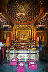 A shrine at the Wenwu Temple at Sun Moon Lake, Taiwan.
