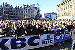 Some of the 25,000 crowd gathered at sign on before the 101st edition of the Tour of Flanders 2017 running 261km from Antwerp to Oudenaarde, Flanders, Belgium. 26th March 2017.<br /> Picture: Eoin Clarke | Cyclefile<br /> <br /> <br /> All photos usage must carry mandatory copyright credit (&copy; Cyclefile | Eoin Clarke)