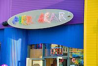 Colorful Pier Gear Store Santa Monica CA, Pacific Park Pier  family amusement park, Purple, Yellow, Blue