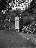 Erskine Childers, minister for Posts and Telegraphs with fiance, Miss Rita Dudley.22/08/1952