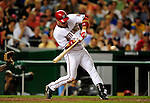 21 August 2009: Washington Nationals' outfielder Josh Willingham in action against the Milwaukee Brewers at Nationals Park in Washington, DC. The Nationals fell to the Brewers 7-3, in the first game of their four-game series. Mandatory Credit: Ed Wolfstein Photo