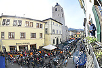 Team Sunweb arrive at sign on before the start of stage 2 of the 2017 Tirreno Adriatico running 229km from Camaiore to Pomarance, Italy. 9th March 2017.<br /> Picture: La Presse/Fabio Ferrari | Cyclefile<br /> <br /> <br /> All photos usage must carry mandatory copyright credit (&copy; Cyclefile | La Presse)