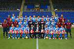 St Johnstone FC photocall Season 2016-17 Show Racism the Red Card<br />Back row from left, Ewan Peacock (Chief Scout), Ally Gilchrist, Graham Cummins, Blair Alston, Murray Davidson, Steven Anderson, Brian Easton, Tam Scobbie, Joe Shaughnessy, Brad McKay, Keith Watson, Liam Gordon and George Browning (Academy GK Coach)<br />Middle row, from left, Alistair Stevenson (Academy Manager), Manny Fowler (Kit Manager), Paul Mathers (GK Coach), Craig Thomson, George Hunter, Mark Hurst, Alan Mannus, Zander Clark, David Wotherspoon, Eoghan McCawl, Scott Williams (Physio), Mel Stewart (Asst Physio) and Alex Headrick (Sports Scientist)<br />Front row from left, Liam Craig, Paul Paton, Steven MacLean, Dave Mackay, Callum Davidson (Asst Manager), Tommy Wright (Manager), Alec Cleland (1st Team Coach), Chris Millar, Danny Swanson, Chris Kane and Michael Coulson.<br />Picture by Graeme Hart.<br />Copyright Perthshire Picture Agency<br />Tel: 01738 623350  Mobile: 07990 594431