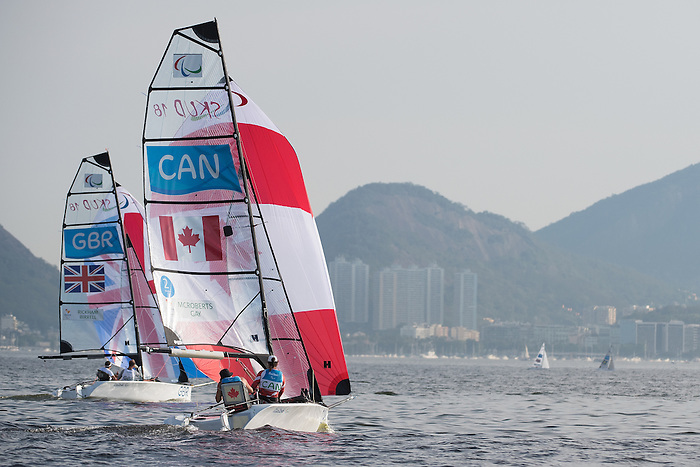 RIO DE JANEIRO - 13/9/2016:  Sailing at the Marina da Gloria during the Rio 2016 Paralympic Games in Rio de Janeiro, Brazil. (Photo by Matthew Murnaghan/Canadian Paralympic Committee)