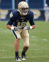 Pittsburgh defensive back Jarred Holley. The Pittsburgh Panthers defeated the South Florida Bulls 41-14 at Heinz Field, Pittsburgh, PA on October 24, 2009.