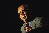 WASHINGTON, DC - 12 Sept 1997- Sen. Jesse Helms, the conservative Senator from North Carolina  speaking at the Christian Coalition Road to Victory. Helms a perennial  critic of abortion, homosexuality and communism, was often referred to Senator No for delaying and sometimes derailing treaties and presidential nominations. Helms passed away 4 July 2008 .© Stacy Walsh Rosenstock
