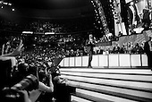Denver, Colorado.August 27, 2008..Democratic Vice President nominee Joe Biden is joined on stage by his wife Jill and the Democratic Vice Presidential nominee Barack Obama after speaking at the Pepsi Center  - Democratic National Convention.