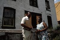 1984 July ..Redevelopment.Huntersville 1&2 (R-70)..RELOCATION IN HUNTERSVILLE.OUTTEN STREET..NEG#.NRHA#..