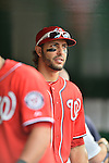 2 September 2012: Washington Nationals' outfielder Michael Morse prepares to face the visiting St. Louis Cardinals at Nationals Park in Washington, DC. The Nationals edged out the Cardinals 4-3, capping their 4-game series with three wins. Mandatory Credit: Ed Wolfstein Photo