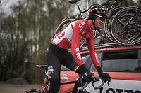 Tim Wellens (BEL/Lotto Soudal)<br /> <br /> Team Lotto-Soudal at the Li&egrave;ge-Bastogne-Li&egrave;ge 2017 recon