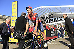 Ivan Garcia Cortina (ESP) Bahrain-Merida at sign on for the 115th edition of the Paris-Roubaix 2017 race running 257km Compiegne to Roubaix, France. 9th April 2017.<br /> Picture: Eoin Clarke | Cyclefile<br /> <br /> <br /> All photos usage must carry mandatory copyright credit (&copy; Cyclefile | Eoin Clarke)