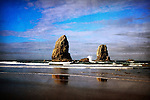 Cannon Beach Monoliths on the Pacific Ocean in Oregon