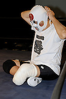 Shin Ohdama. Has practiced wrestling, judo and karate since high school. His left leg was amputated due to diabetes.