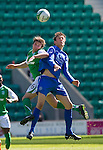 Hibs v St Johnstone.....30.04.11.Murray Davidson and Lewis Stevenson.Picture by Graeme Hart..Copyright Perthshire Picture Agency.Tel: 01738 623350  Mobile: 07990 594431