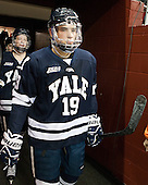Anthony Day (Yale - 19) - The Boston College Eagles tied the visiting Yale University Bulldogs 3-3 on Friday, January 4, 2013, at Kelley Rink in Conte Forum in Chestnut Hill, Massachusetts.