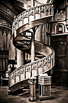 Staircase at Chapel of the Blessed Sacrament in Notre-Dame Basilica of Montr&eacute;al