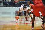 "Ole Miss' Danielle McCray (22) vs. Lamar's Kalis Loyd (5) in women's college basketball at the C.M. ""Tad"" Smith Coliseum in Oxford, Miss. on Monday, November 19, 2012.  Lamar won 85-71."