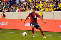 Timmy Chandler (3) of the United States. The men's national team of the United States (USA) was defeated by Ecuador (ECU) 1-0 during an international friendly at Red Bull Arena in Harrison, NJ, on October 11, 2011.