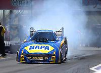Apr 23, 2017; Baytown, TX, USA; NHRA funny car driver Ron Capps during the Springnationals at Royal Purple Raceway. Mandatory Credit: Mark J. Rebilas-USA TODAY Sports