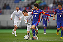(L to R) .Junya Osaki (Sanfrecce), .Masato Morishige (FC Tokyo), .MARCH 31, 2012 - Football /Soccer : .2012 J.LEAGUE Division 1 .between F.C. Tokyo 0-1 Sanfrecce Hiroshima .at Ajinomoto Stadium, Tokyo, Japan. .(Photo by YUTAKA/AFLO SPORT) [1040]