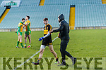 Jordan Kiely Dr. Crokes players and supporters celebrate defeating Corofin in the Semi Final of the Senior Football Club Championship at the Gaelic Grounds, Limerick on Saturday.