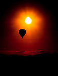 Early morning brings balloon flights above the farmlands of Tropical North Queensland, Australia.