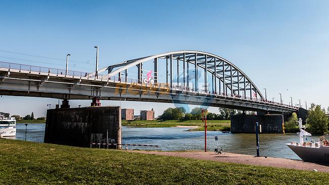 The John Frost Bridge 'A Bridge Too Far', stage 3 from Nijmegen to Arnhem running 190 km of the 99th Giro d'Italia (UCI WorldTour), The Netherlands, 8 May 2016. Photo by Pim Nijland / PelotonPhotos.com | All photos usage must carry mandatory copyright credit (Peloton Photos | Pim Nijland)