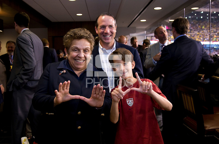 Donna Shalala. The group watched Brazil defeat the United States, 2-0, in an international friendly at the New Meadowlands Stadium in East Rutherford, NJ.