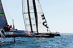 America's Cup World Series, first day of fleet race practice, AC 45 Energy Team for the America's Cup World Series in Cascais Portugal.