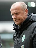 FUSSBALL   1. BUNDESLIGA   SAISON 2012/2013    28. SPIELTAG SV Werder Bremen - FC Schalke 04                          06.04.2013 Trainer Thomas Schaaf (SV Werder Bremen) ist enttaeuscht