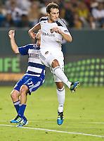 CARSON, CA – August 6, 2011: LA Galaxy defender Todd Dunivant (2) during the match between LA Galaxy and FC Dallas at the Home Depot Center in Carson, California. Final score LA Galaxy 3, FC Dallas 1.