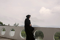 Indonesia - Sumatra - Banda Aceh - Illiza Sa'duddin Djamal, 42-year-old Mayor of Banda standing on the rooftop of the City Hall.
