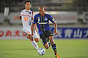 (R-L) Rafinha (Gamba), Shin Kanazawa (Ardija), SEPTEMBER 10, 2011 - Football / Soccer : 2011 J.League Division 1 match between Gamba Osaka 2-0 Omiya Ardija at Expo '70 Stadium in Osaka, Japan. (Photo by AFLO)