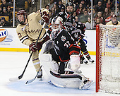 Patrick Brown (BC - 23), Chris Rawlings (NU - 37) - The Boston College Eagles defeated the Northeastern University Huskies 6-3 on Monday, February 11, 2013, at TD Garden in Boston, Massachusetts.