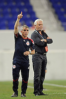 New York Red Bulls assistant coach Richie Williams calls for a substitute. The New York Red Bulls defeated the Colorado Rapids 3-0 during a U. S. Open qualifier match at Red Bull Arena in Harrison, NJ, on May 26, 2010.