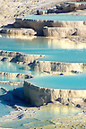 Photo & pictures  of Pamukkale Travetine Terrace, Turkey. Photography of the white Calcium carbonate rock formations. Buy as stock photos or as photo art prints. 2