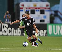DC United forward Jaime Moreno (99)   Seattle Sounders. defeated DC United 1-0 at RFK Stadium, Thursday July 15, 2010.