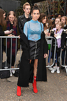 Dua Lipa arrives for the Topshop Unique AW17 show as part of London Fashion Week AW17 at Tate Modern, London, UK. <br /> 19 February  2017<br /> Picture: Steve Vas/Featureflash/SilverHub 0208 004 5359 sales@silverhubmedia.com