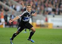 FUSSBALL   1. BUNDESLIGA  SAISON 2011/2012   7. Spieltag     23.09.2011 VfB Stuttgart - Hamburger SV JUBEL; Torschuetze zum 1-2 Robert Tesche (Hamburger SV)