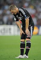 FUSSBALL   CHAMPIONS LEAGUE   SAISON 2011/2012  Qualifikation  23.08.2011 FC Zuerich - FC Bayern Muenchen Bastian Schweinsteiger (FC Bayern Muenchen) erschoepft