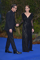 LONDON, ENGLAND - MAY 08: Brad Pitt and Angelina Jolie attends a private reception as costumes and props from Disney's 'Maleficent' are exhibited in support of Great Ormond Street Hospital at Kensington Palace on May 8, 2014 in London, England<br /> ***USA ONLY****<br /> RTNCap/MediaPunch