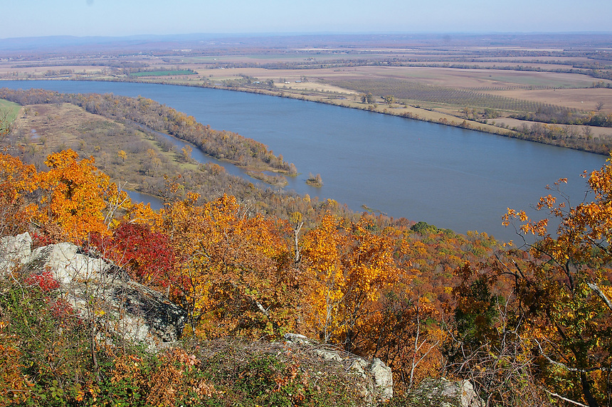 View of Arkansas River from Petit Jean Mountain, Petit Jean State Park, Arkansas